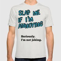 SLAP Mens Fitted Tee Silver SMALL