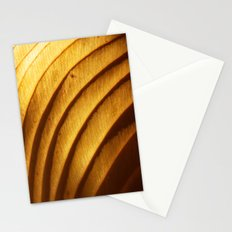 Golden Leaf Light Abstract Stationery Cards