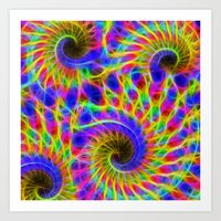 Fractal Wire Flame  Art Print