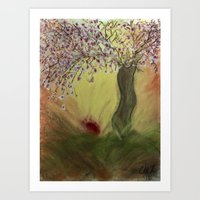 Cherry Blossom Tree Of M… Art Print