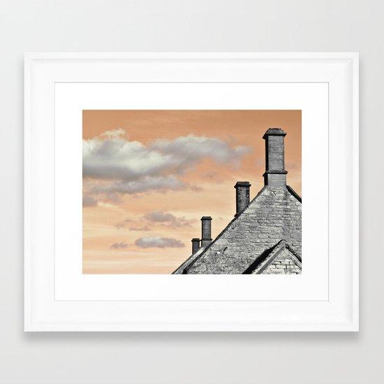 cloud factory... Framed Art Print