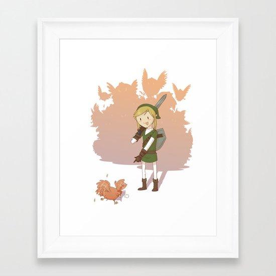 Link - Chicken Framed Art Print