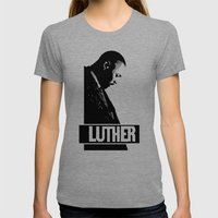 Luther - Idris Elba Womens Fitted Tee Tri-Grey SMALL
