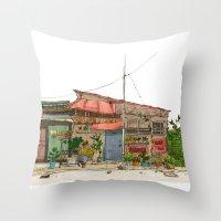 Tokyo Street 7 Throw Pillow