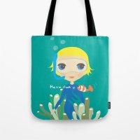 Diver girl Tote Bag