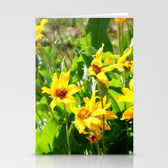 Yellow Wild Flowers Stationery Card