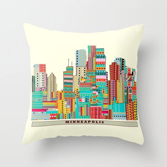Minneapolis city  Throw Pillow