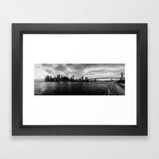 New York Skyline - Black & White Framed Art Print