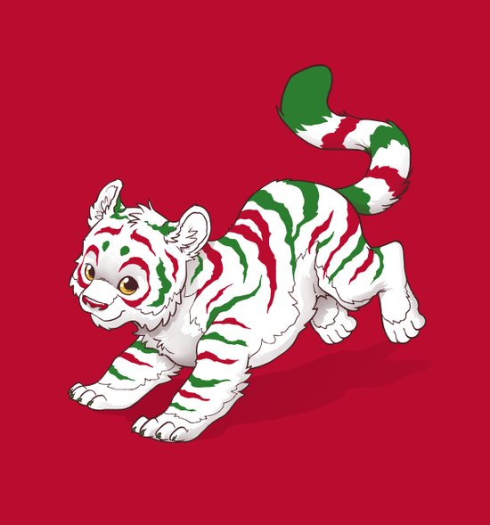 Candy Tiger Art Print