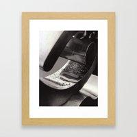 Droplets on Metal Framed Art Print