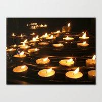 Joan Of Arc's Candles Canvas Print