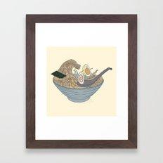 THE GREAT SLURP Framed Art Print