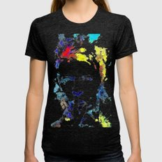 Bowie Womens Fitted Tee Tri-Black SMALL
