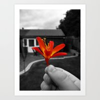 Held Flower Art Print