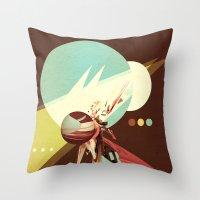 Vintage Space Poster Ser… Throw Pillow