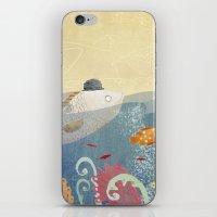 Clovis talking to fish iPhone & iPod Skin