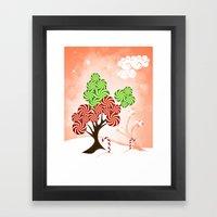 Magic Candy Tree - V1 Framed Art Print