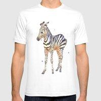 Zebra, Baby Zebra, Afric… Mens Fitted Tee White SMALL