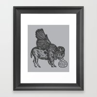 The Buffalo's Plea Framed Art Print