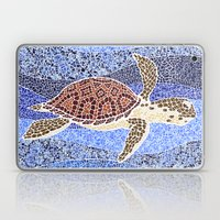 sea turtle: unity through collage Laptop & iPad Skin