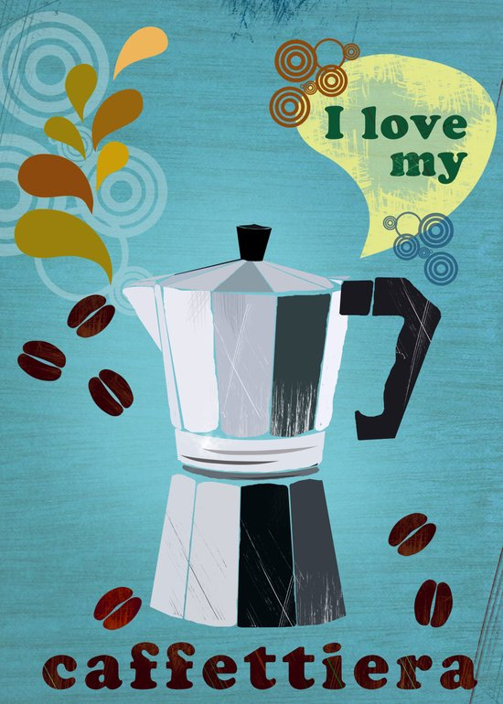 I love my caffetiera Art Print