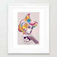 I AM MY FAVORITE COLOR Framed Art Print