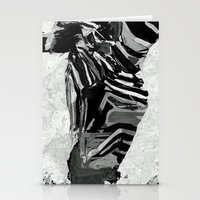 Abstract Zebra Grazing Stationery Cards