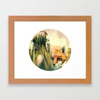 V! Framed Art Print