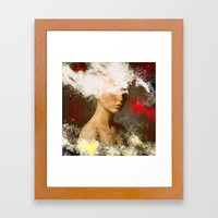 The Woman Without Look Framed Art Print