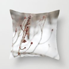Winter Branch Throw Pillow
