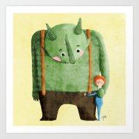 Dear Troll Art Print