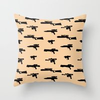 Blasters Throw Pillow