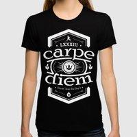 Carpe Diem Womens Fitted Tee Black SMALL