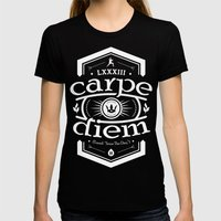 Carpe Diem Womens Fitted Tee Black SMALL