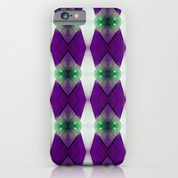 iPhone & iPod Case featuring Purple Diamonds by Emily H Morley