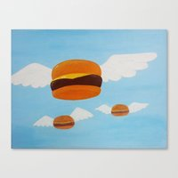 Bob's Flying Burgers Canvas Print