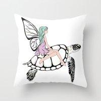 Fairy/ Turtle  Throw Pillow