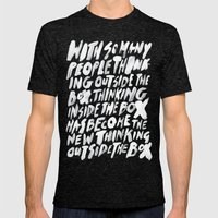 GET BACK IN THE BOX Mens Fitted Tee Tri-Black SMALL