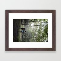 beach lake  Framed Art Print
