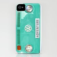 iPhone 4s & iPhone 4 Cases featuring Adventure wolkswagen. Summer dreams. Green by Guido Montañés
