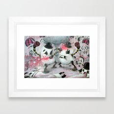 Pillow Fight!!! Framed Art Print