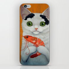 CAT AND BIG SHRIMP iPhone & iPod Skin
