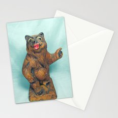 Sexy Hitchhiking Bear Statue Stationery Cards