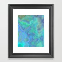 Through The Rain Framed Art Print