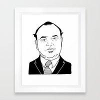 Al 'Scarface' Capone Framed Art Print