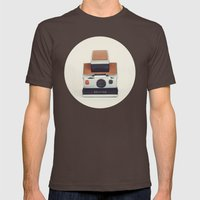 SX-70 POLAROID  Mens Fitted Tee Brown SMALL