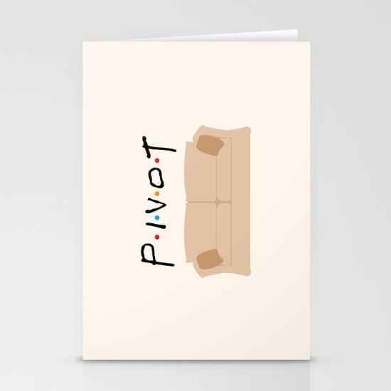 Pivot - Friends Tribute Stationery Card