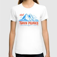 Visit Twin Peaks (orange… Womens Fitted Tee White SMALL