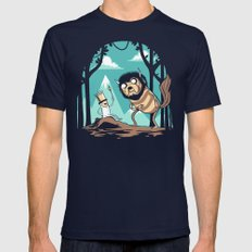 Where the Wild Adventures Are Mens Fitted Tee Navy SMALL