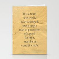 It is a truth universally acknowledged... Stationery Cards